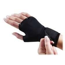 Support Glove, w/ Wrist Strap, Small, Black