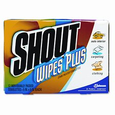 Shout Wipe and Go Instant Stain Remover, 80/Carton