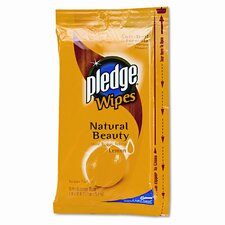Pledge Lemon Scent Wet Wipes, Cloth, 24/Pack