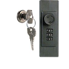 Locking Key Cabinet, 72-Key, Brushed Aluminum, 11 7/8 X 4 3/4 X 15 3/4