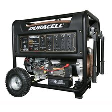 8000 Watt Duracell Portable Gas Powered Generator, KOHLER Electric Start Engine 14 HP (w/ Recoil Start Backup)