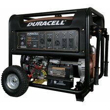 7800 Watt Duracell Portable Gas Powered Generator, KOHLER Electric Start Engine 14 HP (w/ Recoil Start Backup)