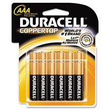 Coppertop Alkaline Batteries, AAA, 12/pack