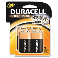 9V-Cell Coppertop Alkaline Batteries