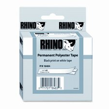 "Rhino Permanent Poly Industrial Label Tape Cassette 0.75"" X 18'"