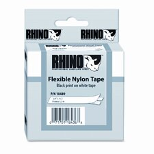 "Rhino Flexible Nylon Industrial Label Tape Cassette, 0.75"" x 11.5'"