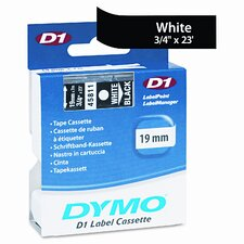 """D1 Standard Tape Cartridge for Label Makers, 0.75"""" x 23'"""