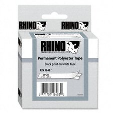 "Rhino Permanent Poly Industrial Label Tape Cassette 0.37"" X 18'"