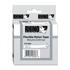 "<strong>Dymo Corporation</strong> Rhino Flexible Nylon Industrial Label Tape Cassette, 0.5"" x 11.5'"