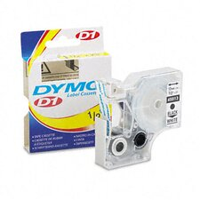 D1 Standard Tape Cartridge for Label Makers, 1/2In X 23Ft