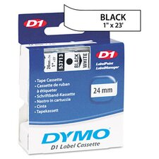 "D1 Standard Tape Cartridge for Label Makers, 1"" x 23'"