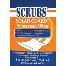 Solar Guard™ Sunscreen Towels - scrubs sunscreen towel 1/packet