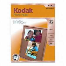 <strong>Eastman Kodak</strong> Glossy Photo Paper, 25 Sheets/Pack
