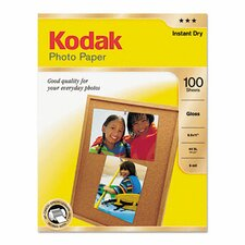 <strong>Eastman Kodak</strong> Photo Paper, 6.5 Mil, 8-1/2 X 11, 100 Sheets/Pack