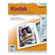 <strong>Eastman Kodak</strong> Glossy Premium Photo Paper, 50 Sheets/Pack