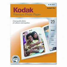 <strong>Eastman Kodak</strong> Glossy Premium Photo Paper, 25 Sheets/Pack