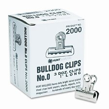 x-Acto Bulldog Clips, Steel, 36/Box