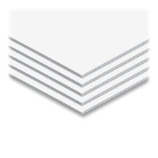 "Sturdy Foam Board, 3/16""Thick, 20""x30"", 25/CT, White"