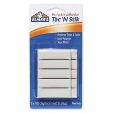 "Tac 'N Stik Reusable Adhesive, Nontoxic, 2""x1 oz"