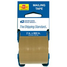 "2"" x 800"" Brown USPS Mailing Tape With Palmguard® Dispenser 83711B"
