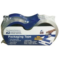 "2 Rolls 1.89"" x 40 Yards Clear Packaging Tape 82232"