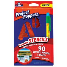 Project Count Popperz 90 Piece Reusable Stencils Set