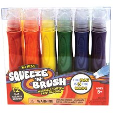 Brick Squeeze N Brush Washable Paints (Set of 4)