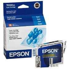 T032220 OEM Ink Cartridge, 420 Page Yield, Cyan