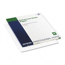 <strong>Epson America Inc.</strong> Enhanced Matte Inkjet Presentation Paper, White, 17 x 22, 50 Sheets
