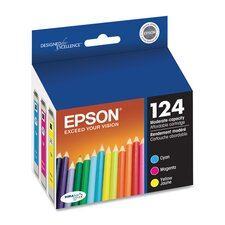 T124520 (124) Moderate Capacity Ink, 3/Pack