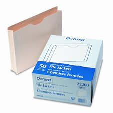 "Double-Ply Tabbed File Jacket with Two"" Expansion, Letter, 50/Box"