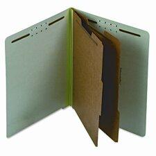 Extra-Hvy Pressboard Classification Folders, Letter, Six-Section, 10/Box