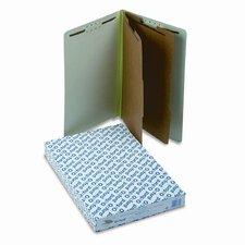 Extra-Hvy Pressboard End Tab Folders, Legal, Six-Section, 10/Box