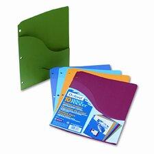 Slash Pocket Project Folders, Jacket, Letter, 10/Pack