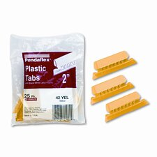 Hanging File Folder Tabs, 1/5 Tab, Two Inch, 25/Pack