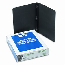 "Oxford Paper Panel Report Cover, Tang Clip, Letter, 1/2"" Capacity, 25/Box"