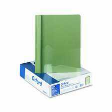 "Oxford Clear Front Report Cover, Tang Clip, Letter, 1/2"" Capacity, 25/Box"