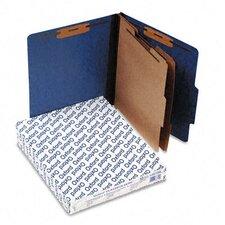Pressguard Classification Folders, Letter, Six-Section, 10/Box