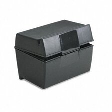<strong>Esselte Pendaflex Corporation</strong> Oxford Plastic Index Card Flip Top File Box Holds 300 3 x 5 Cards