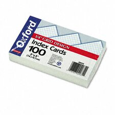 Oxford Grid Index Cards, 3 x 5, 100/Pack