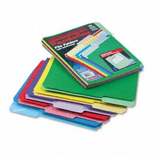 File Folders, Infopocket, 1/3 Cut Top Tab, Letter, 30/Pack