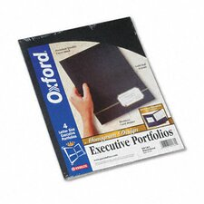 Oxford Monogram Series Business Portfolio, Premium Cover Stock, 4/Pack