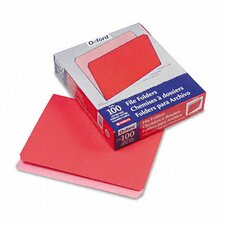 Two-Tone File Folder, Straight Cut, Top Tab, Letter, 100/Box