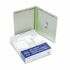 """Pressboard Folders with Two 2"""" Capacity Fasteners, Letter, 25/Box"""