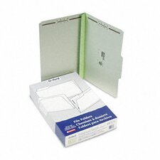 "Pressboard Folders with Two 3"" Capacity Fasteners, Legal, 25/Box"