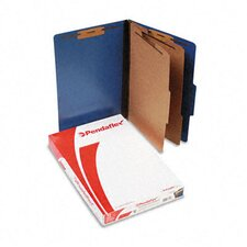 Pressguard Classification Folders, Legal, Six-Section, 10/Box