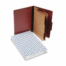 Pressboard Classification Folders, Legal, Six-Section, 10/Box