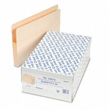 "Three"" Expansion File, 25 Pockets, Straight Cut, Legal, 25/Box"