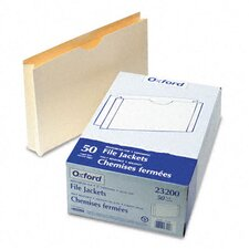 "Double-Ply Tabbed File Jacket with Two"" Expansion, Legal, 50/Box"