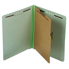 Extra-Hvy Pressboard Classification Folders, Letter, Four-Section, 10/Box